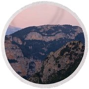 Round Beach Towel featuring the photograph Pre Pyrenees Sunset by Stephen Taylor