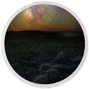 Round Beach Towel featuring the photograph Pricked  by Aaron J Groen