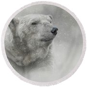 Prince Of The North Pole Round Beach Towel