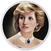 Princess Diana Round Beach Towel