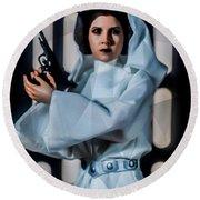 Princess Leia Round Beach Towel