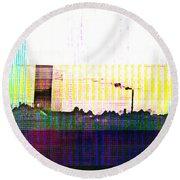 Round Beach Towel featuring the digital art Progress by Bee-Bee Deigner