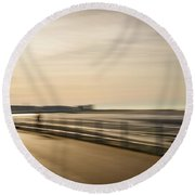Promenade Abstract Round Beach Towel