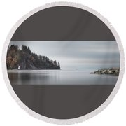 Brockton Point, Vancouver Bc Round Beach Towel