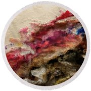 Round Beach Towel featuring the painting Proverbs 29 25 Lay Aside The Fear Of Man by Mark Lawrence