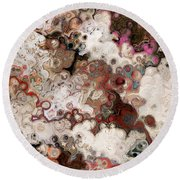 Round Beach Towel featuring the painting Proverbs 5 21. The Ways Of Man by Mark Lawrence