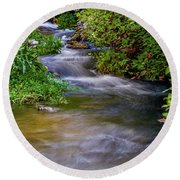 Round Beach Towel featuring the photograph Provo Deer Creek by TL Mair