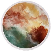 Round Beach Towel featuring the painting Psalm 115 14. Increase And More by Mark Lawrence