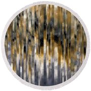 Round Beach Towel featuring the painting Psalm 143 8. You Do I Trust by Mark Lawrence