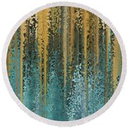 Round Beach Towel featuring the painting Psalm 37 4. My Delight by Mark Lawrence