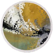 Round Beach Towel featuring the painting Psalm 51 1-2. A Cry For Mercy by Mark Lawrence