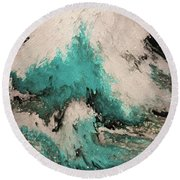 Round Beach Towel featuring the painting Psalm 59 16. I Will Sing Of Your Power by Mark Lawrence
