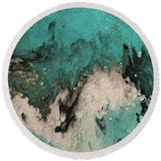Round Beach Towel featuring the painting Psalm 59 17. I Will Sing Praises by Mark Lawrence