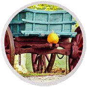 Pumpkin Trail Mix Round Beach Towel