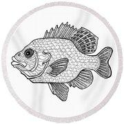 Pumpkinseed Fish Round Beach Towel