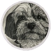 Puppers Round Beach Towel