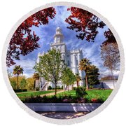 Pure And Holy Round Beach Towel