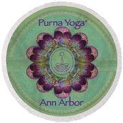 Purna Yoga Ann Arbor Round Beach Towel
