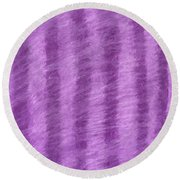 Purple Hazy Nights Round Beach Towel