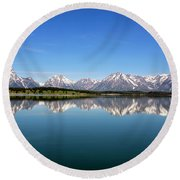 Round Beach Towel featuring the photograph Purple Mountains Majesty by Sue Collura