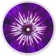 Purple Passion Round Beach Towel