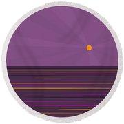 Purple Sunset Round Beach Towel