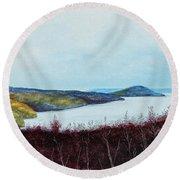 Quabbin Reservoir Round Beach Towel