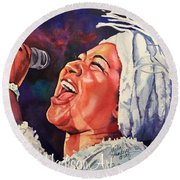 Queen Of Soul Round Beach Towel