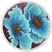 Round Beach Towel featuring the painting Quiet Contemplation by Amy E Fraser