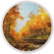 Round Beach Towel featuring the photograph Quiet Time by Rick Furmanek