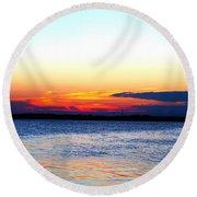 Radiant Sunset Round Beach Towel