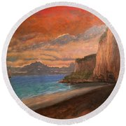 Railay Beach, Krabi Thailand Round Beach Towel