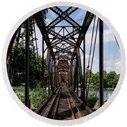 Railroad Bridge 6th Street Augusta Ga 1 Round Beach Towel