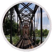 Railroad Bridge 6th Street Augusta Ga 1 Round Beach Towel