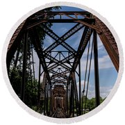 Railroad Bridge 6th Street Augusta Ga 2 Round Beach Towel