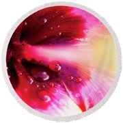 Rain Flower Round Beach Towel