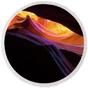Rainbow Canyon Round Beach Towel