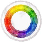Rainbow Color Wheel Round Beach Towel