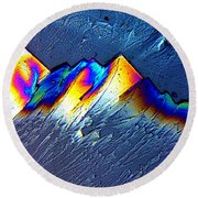 Rainbow Mountains Round Beach Towel