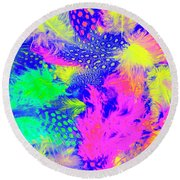 Rainbow Radiance Round Beach Towel