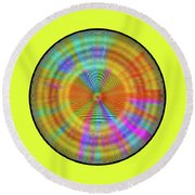Round Beach Towel featuring the digital art Rainbwow Sun by Visual Artist Frank Bonilla