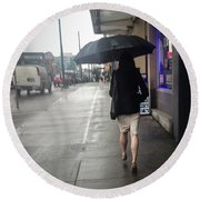 Rainy Day Round Beach Towel
