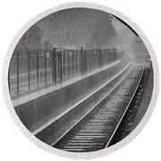 Rainy Days And Metro Round Beach Towel