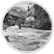 Ramsau, Bavaria Round Beach Towel