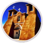 Ranchos Church  Xxxii Round Beach Towel