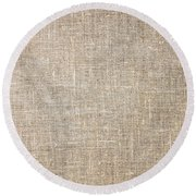 Raw Natural Linen Round Beach Towel