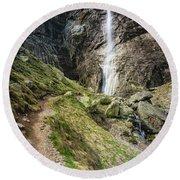 Raysko Praskalo Waterfall, Balkan Mountain Round Beach Towel
