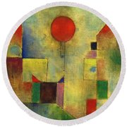 Red Balloon - Roter Ballon, 1922 Round Beach Towel