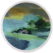 Red House New Round Beach Towel