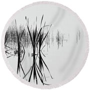 Reed Reflection Round Beach Towel